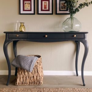 Feather and Black Console Table