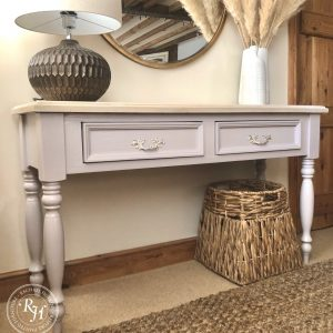 Pine Console Table in Farrow and Ball Peignoir